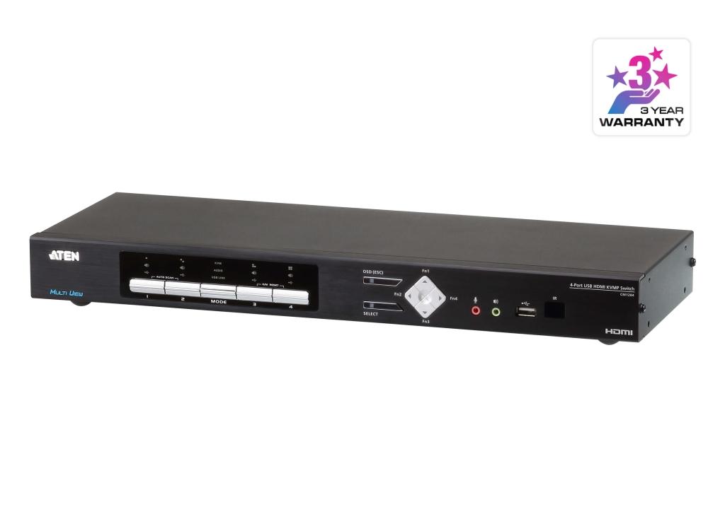 【新品/取寄品/代引不可】USBハブ搭載 4ポート USB HDMI マルチビューKVMPスイッチ CM1284/ATEN