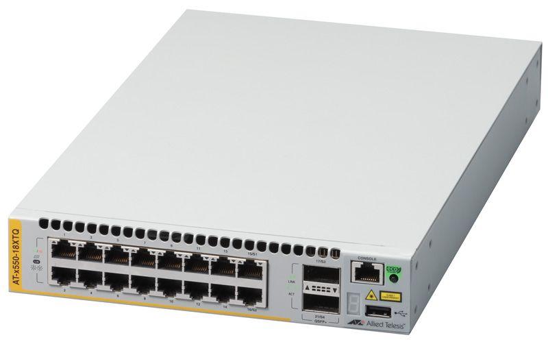 【新品/取寄品/代引不可】AT-x550-18XTQ-Z1 [1000/10GBASE-Tx16、QSFP+スロットx2(デリバリースタンダード保守1年付)] 3677RZ1