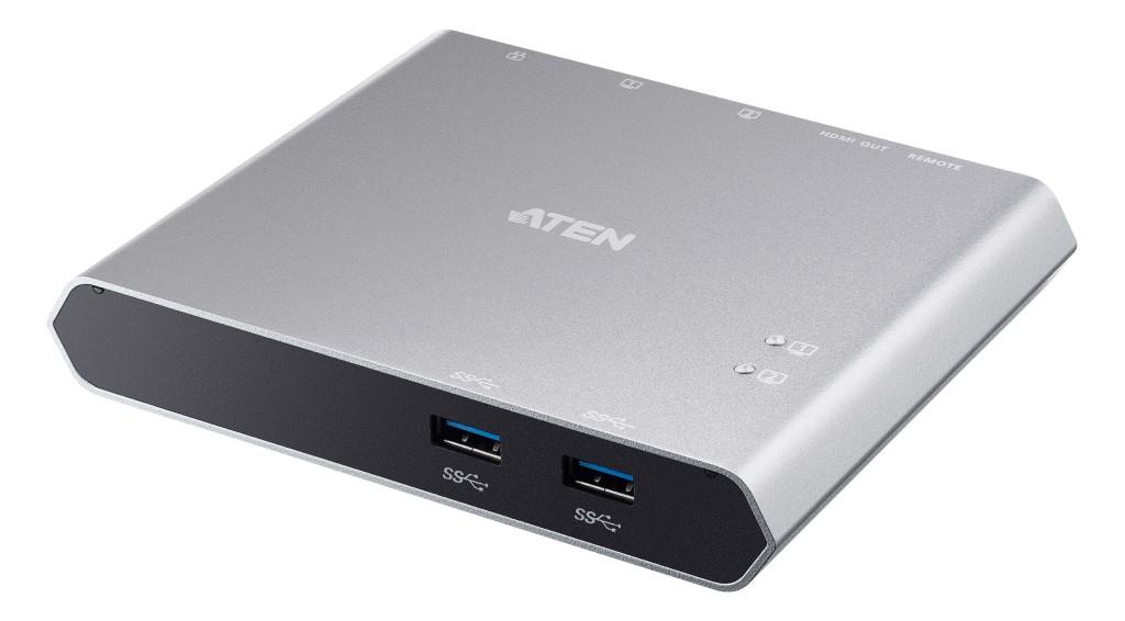 【新品/取寄品/代引不可】2ポート USB-C Gen 1ドッキングスイッチ(電源パススルー対応) US3310/ATEN