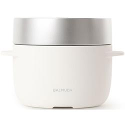 【新品/取寄品】バルミューダ 蒸気のチカラだけで炊き上げる電気炊飯器 The Gohan K03A-WH [ホワイト] [3合炊き]