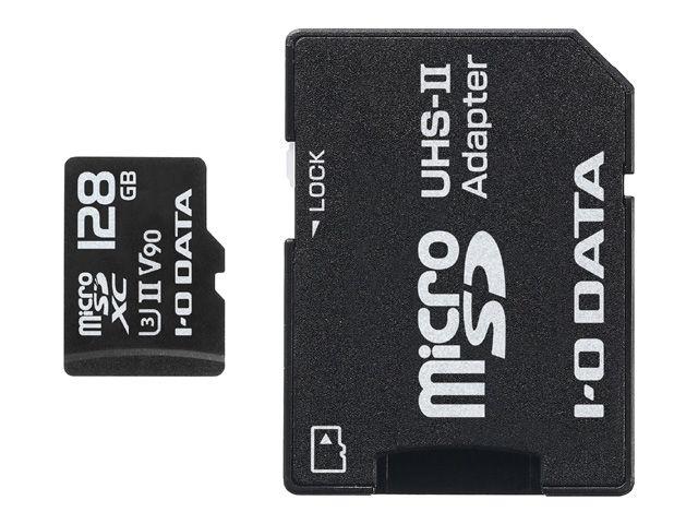 【新品/取寄品/代引不可】UHS-II UHS スピードクラス3対応 microSDメモリーカード 128GB MSDU23-128G