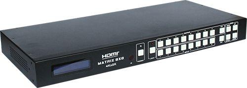【新品/取寄品/代引不可】4K2K対応8入力8出力HDMIマトリクススイッチャ HDMX-A884K