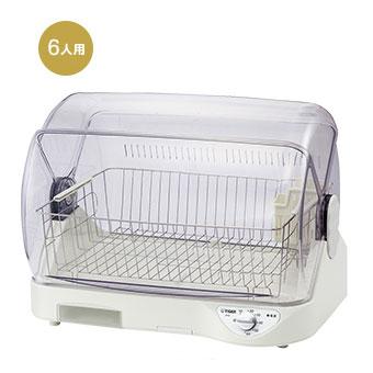 新品 取寄品 売買 タイガー 食器乾燥器 サラピッカ ホワイト セットアップ 6人用 DHG-T400-W