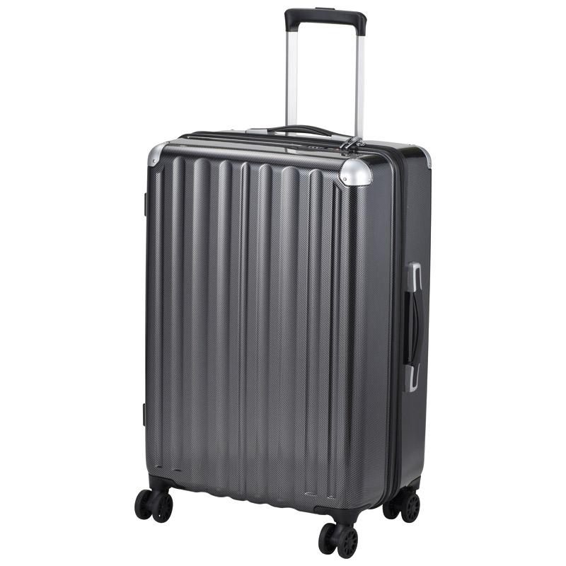 【新品/取寄品】【特選商品】スーツケース 66リットル カーボンブラック ALI-6008-24 CBK