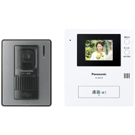 【新品/取寄品】パナソニック カラーテレビドアホン VL-SV19K