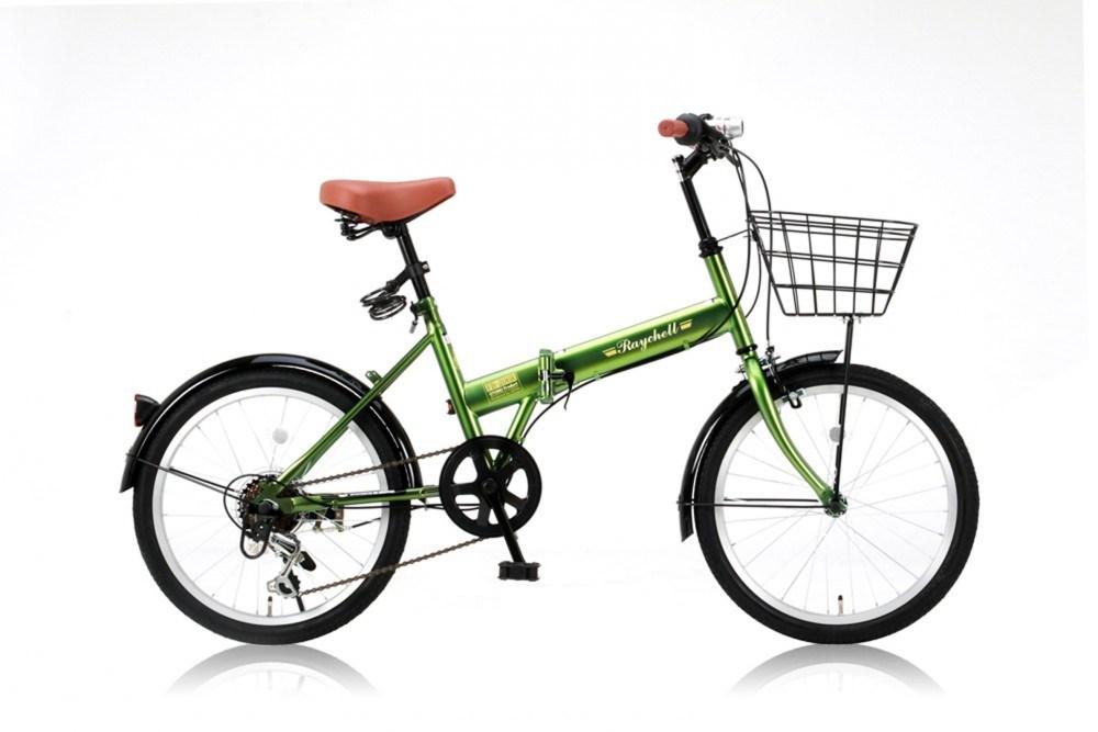 【新品/取寄品/代引不可】Raychell(レイチェル) FB-206R カーキ (31010) 20インチ折りたたみ自転車【北海道・沖縄・離島配送不可】