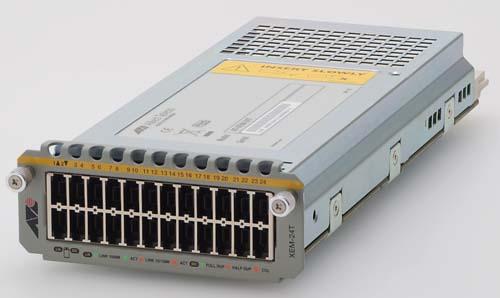 【新品/取寄品/代引不可】AT-XEM-24T-Z1 [10/100/1000BASE-Tx24 (RJ.5)(デリバリースタンダード保守1年付)] 0824RZ1