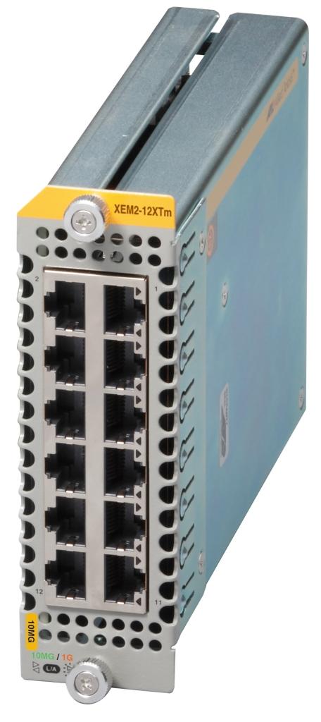 【新品/取寄品/代引不可】AT-XEM2-12XTm[1G/2.5G/5G/10GBASE-Tx12] 3760R