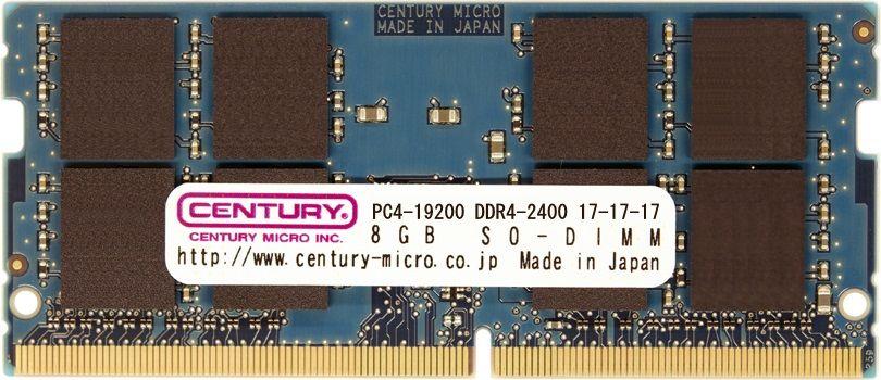 【新品/取寄品/代引不可】ノートPC用 PC4-19200/DDR4-2400 8GB 260pin SO-DIMM 日本製 CD8G-SOD4U2400