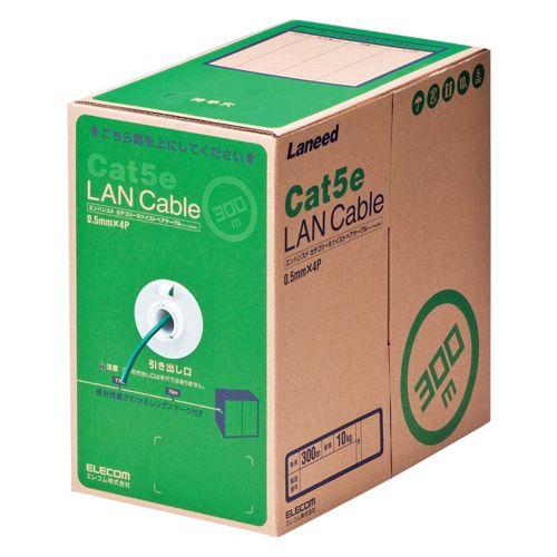 【新品/取寄品/代引不可】RoHS対応LANケーブル/CAT5E/300m/ダークグリーン/簡易パッケージ LD-CT2/DG300/RS