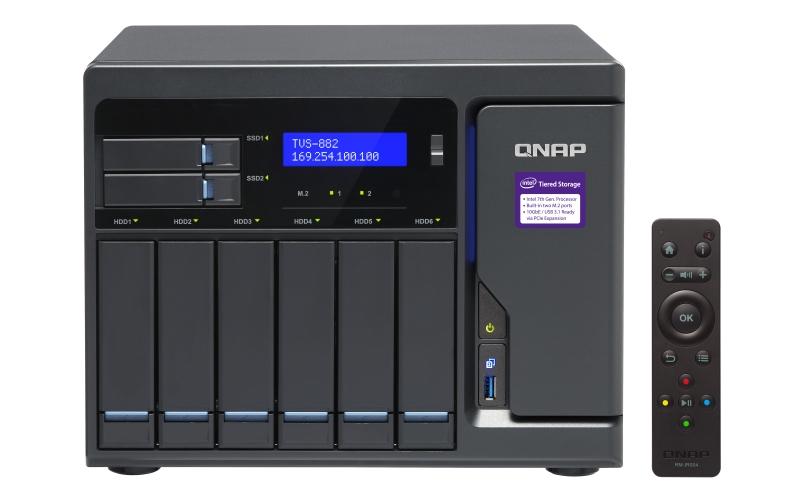 【新品/取寄品/代引不可】TVS-882-i3-8G 36TB搭載モデル(タワー型 NAS HDD6TBx6個搭載) TVS-882/36TB-A