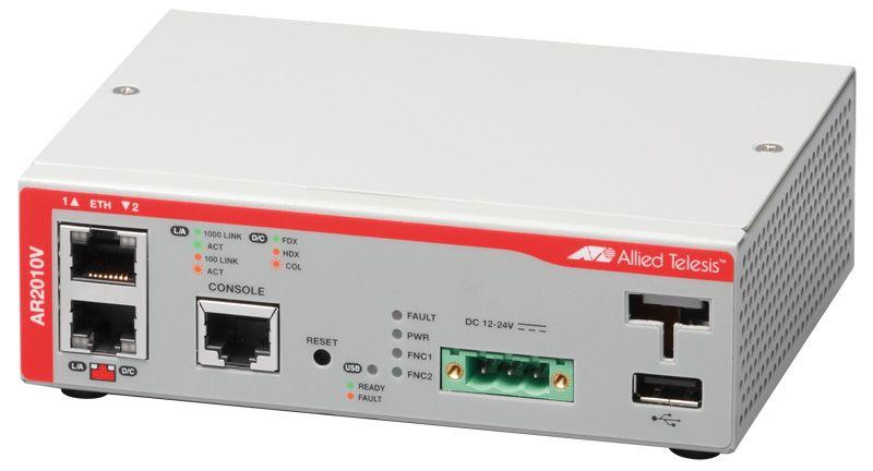 【新品/取寄品/代引不可】AT-AR2010V [WAN:10/100/1000BASE-Tx1、LAN:10/100/1000BASE-Tx1、USBポートx1] 1660R