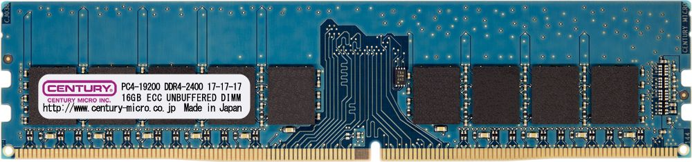 【新品/取寄品/代引不可】サーバー/WS用 PC4-19200 DDR4-2400 288pin UnbufferedECC-DIMM 1.2V 16GB CD16G-D4UE2400
