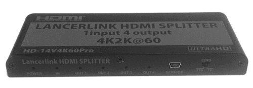 【新品/取寄品/代引不可】1入力4出力HDMI分配器 HD-14V4K60PRO