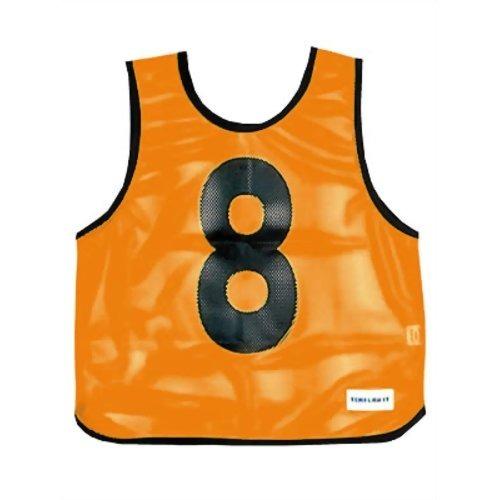 【通販限定/新品/取寄品/代引不可】メッシュベストジュニア(1-10) 蛍光オレンジ B-7693V 1枚入