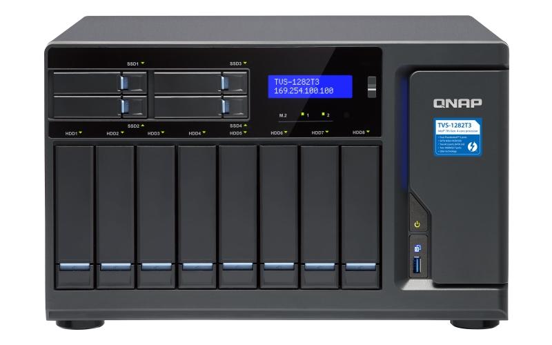 【新品/取寄品/代引不可】TVS-1282T3 48TB搭載モデル(タワー型 NAS HDD6TBx8個搭載) TVS-1282T3/48TB-A