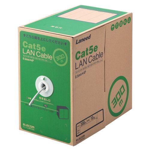 【新品/取寄品/代引不可】RoHS対応LANケーブル/CAT5E/300m/ライトグレー/簡易パッケージ LD-CT2/LG300/RS