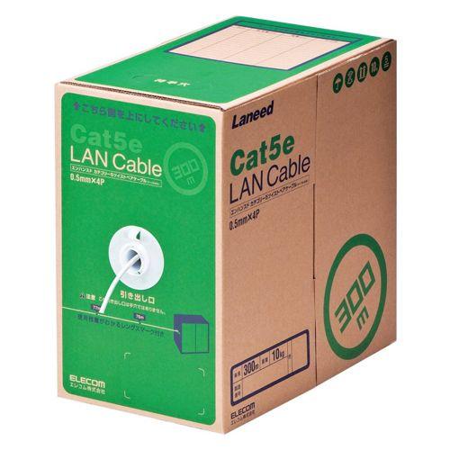 【新品/取寄品/代引不可】RoHS対応LANケーブル/CAT5E/300m/ホワイト/簡易パッケージ LD-CT2/WH300/RS