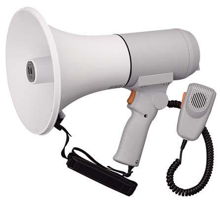【新品/取寄品/代引不可】中型メガホン(ハンド/ショルダー兼用/15W) ER-3115