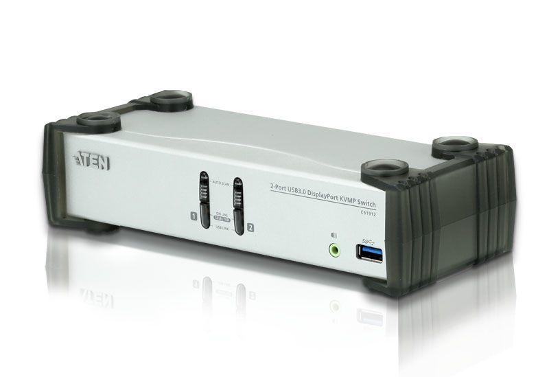 KVMPスイッチ 2ポートUSB CS1912/ATEN DisplayPort 【新品/取寄品/代引不可】USB 3.0ハブ搭載