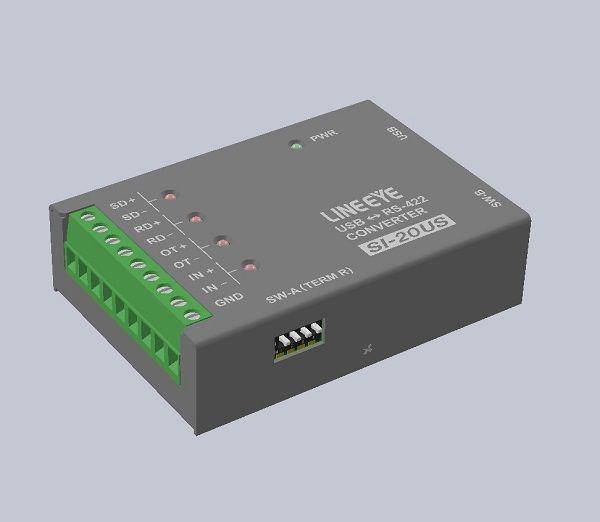 【新品/取寄品/代引不可】小型インターフェースコンバータ USBRS-422 SI-20US