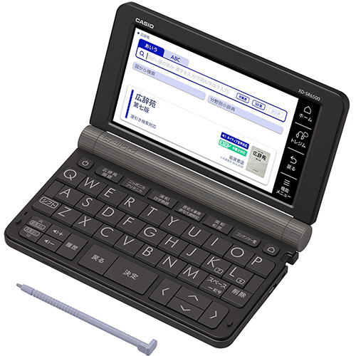 【新品/取寄品】電子辞書 EX-word 生活・教養モデル XD-SR6500BK ブラック