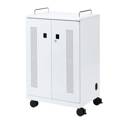 [送料はご注文後にご案内] 【新品/取寄品/代引不可】タブレット収納キャビネット(40台収納) CAI-CAB102W