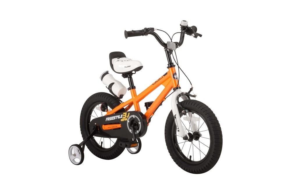 【新品/取寄品/代引不可】ROYALBABY(ロイヤルベビー) 14インチ子供用自転車 RB-WE FREESTYLE 14 Orange(35961) オレンジ 補助輪【北海道・沖縄・離島配送不可】