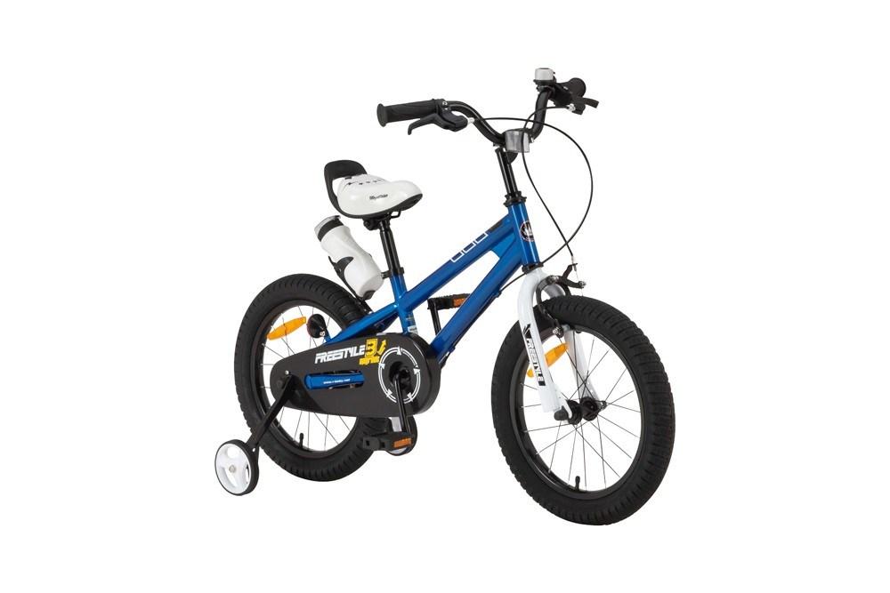 【新品/取寄品/代引不可】ROYALBABY(ロイヤルベビー) 14インチ子供用自転車 RB-WE FREESTYLE 14 Blue(35962)ブルー 補助輪【北海道・沖縄・離島配送不可】
