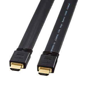 【新品/取寄品/代引不可】フラットHDMIケーブル 10m ブラック KM-HD20-100FK