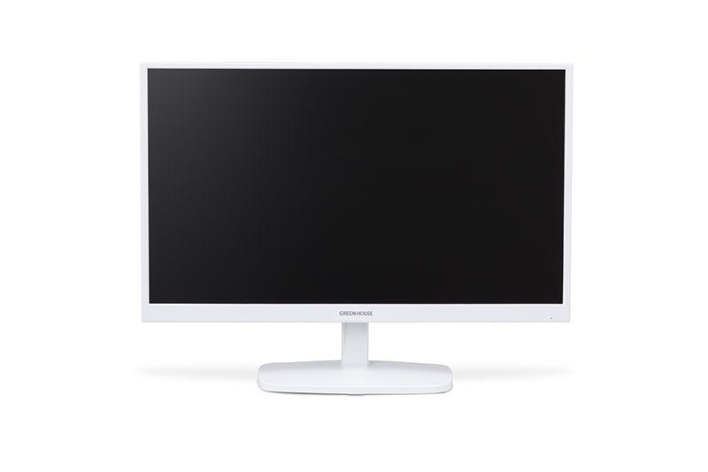 【新品/取寄品/代引不可】23.6型ワイド高視野角LED液晶ディスプレイ ホワイト GH-LCW24ES-WH