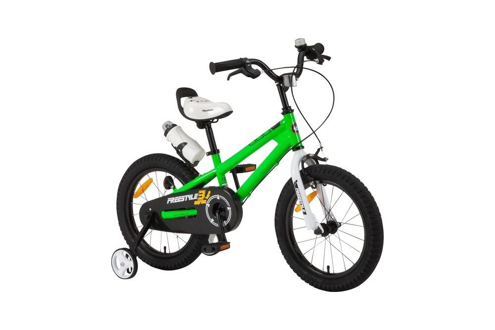 【新品/取寄品/代引不可】ROYALBABY(ロイヤルベビー) 16インチ子供用自転車 RB-WE FREESTYLE 16 Green(35968)グリーン 補助輪【北海道・沖縄・離島配送不可】