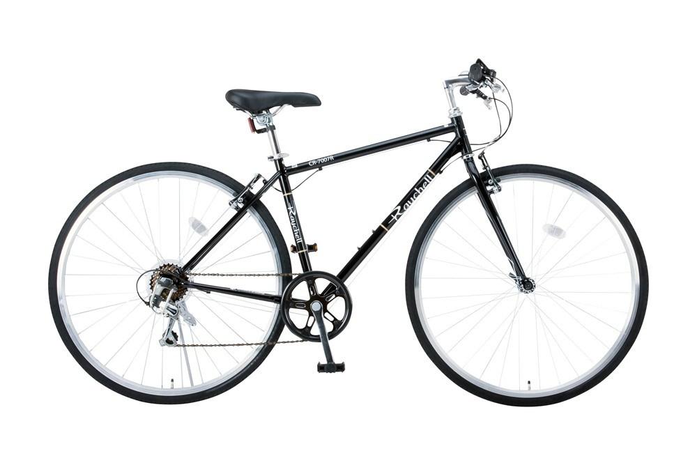 【新品/取寄品/代引不可】Raychell 700C 7段変速 クロスバイク CR-7007R ブラック (35652) 【北海道・沖縄・離島配送不可】