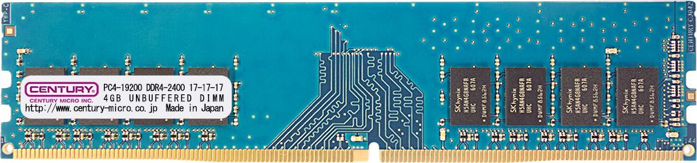 【新品/取寄品/代引不可】デスクトップ用 PC4-19200 DDR4-2400 288pin Unbuffered-DIMM 1.2v 16GBkit (4GBx4) CK4GX4-D4U2400H