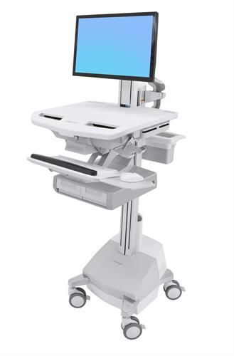 【新品/取寄品/代引不可】スタイルビュー カート、LCDピボット付き、SLAパワー、引出し2個 (2x1) SV44-13A1-6