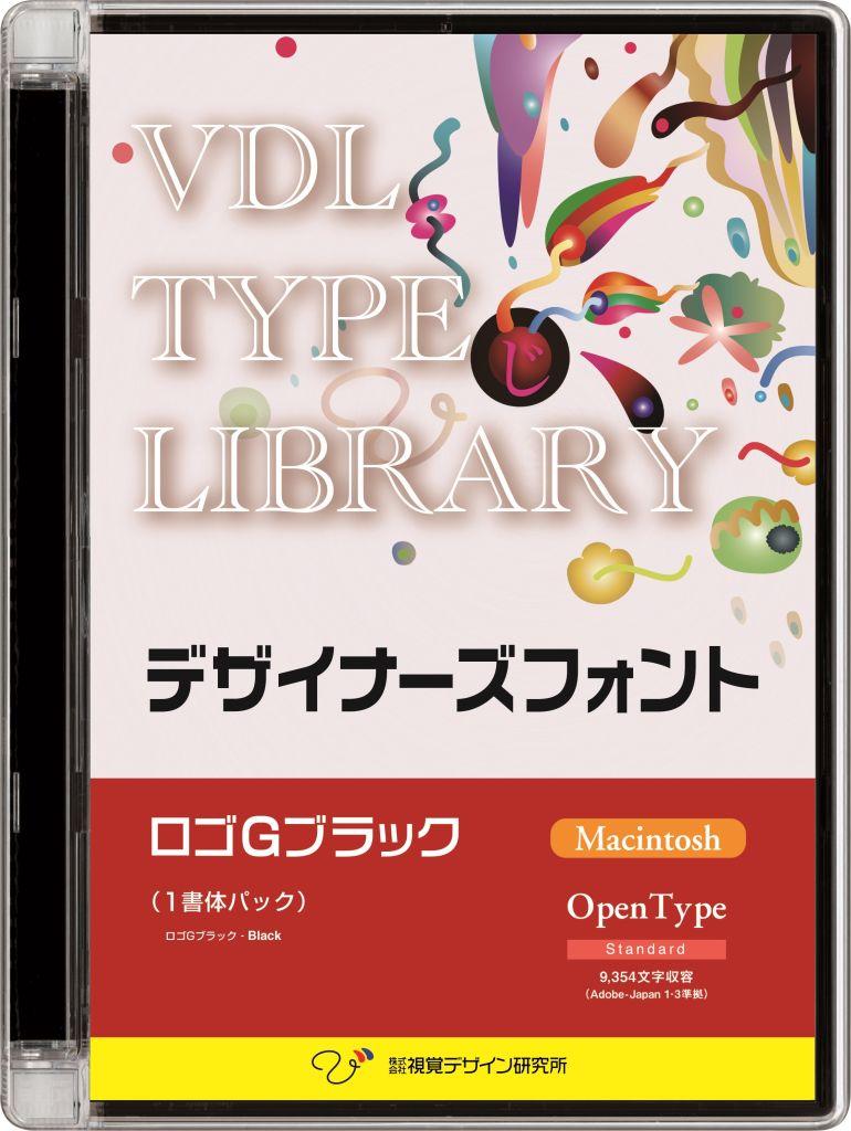 【新品/取寄品/代引不可】VDL TYPE LIBRARY デザイナーズフォント OpenType (Standard) Macintosh ロゴGブラック 31800