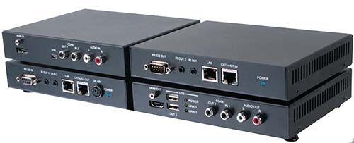 【新品/取寄品/代引不可】4K2K 60PをCat5e/6/7ケーブルを使 用して100mまで延長する延長器 HDE-100M4K60P