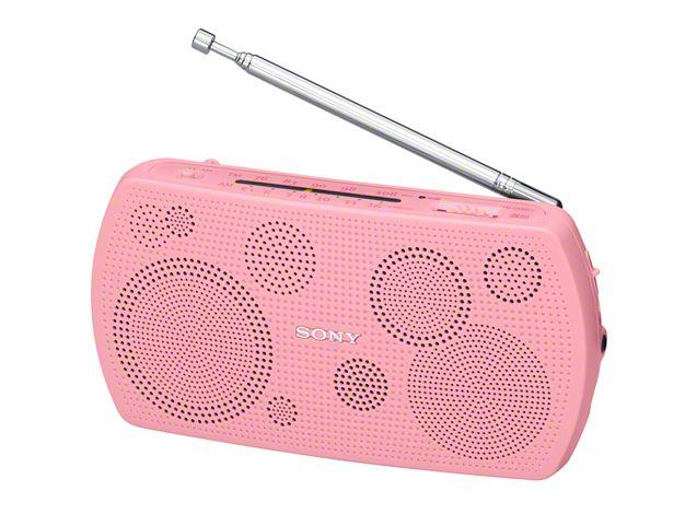 【新品/取寄品/代引不可】ステレオポータブルラジオ ピンク SRF-19/P