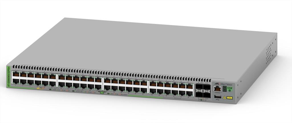 【新品/取寄品/代引不可】AT-GS980MX/52PSm[10/100/1000BASE-Tx40(PoE-OUT)、100/1000/2.5G/5GBASE-Tx8(PoE-OUT)、SFP+スロットx4] 4044R