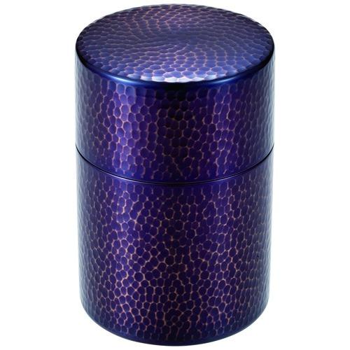 【通販限定/新品/取寄品/代引不可】純銅紫被仕上げ茶筒 1コ入