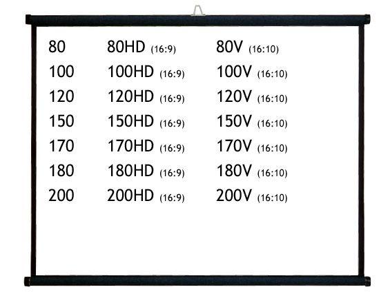 【新品/取寄品/代引不可】100インチワイド 掛図式スクリーン(アスペクト比16:9) KZ-100HD