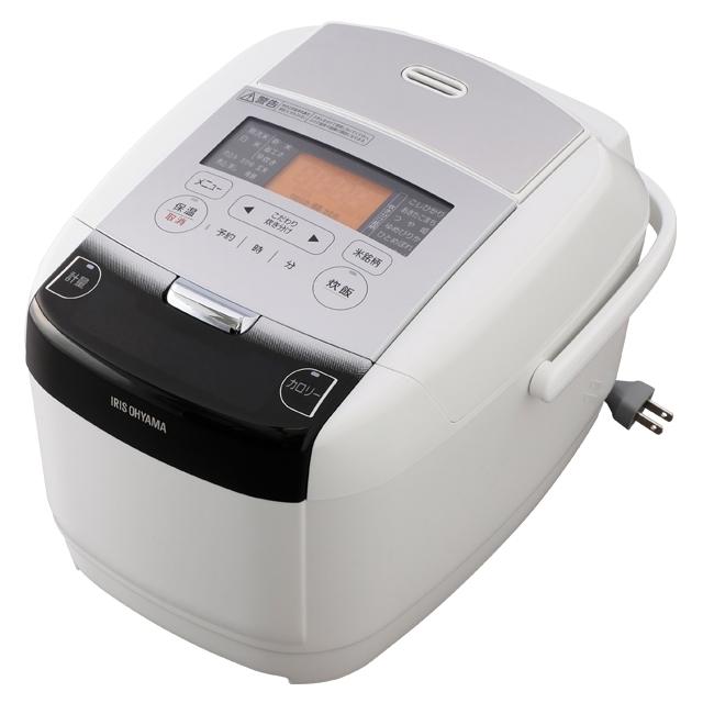 【新品/取寄品】アイリスオーヤマ IH炊飯器 極厚火釜 銘柄量り炊き RC-IC50-W [ホワイト] [5.5合炊き]