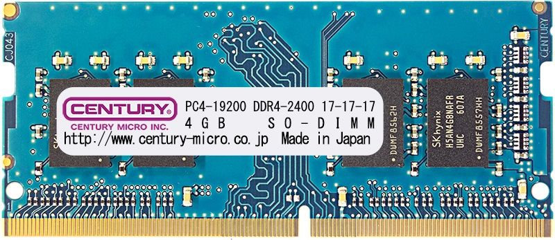 【新品/取寄品/代引不可】ノートPC用 PC4-19200/DDR4-2400 16GBキット(8GB 2枚組) 260pin SO-DIMM 日本製 1rank CK8GX2-SOD4U2400H