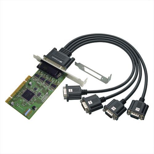 【新品/取寄品/代引不可】4ポート RS-232C・デジタルI/O PCIボード REX-PCI64D