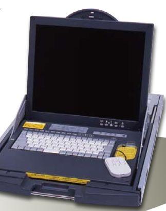 【新品/取寄品/代引不可】省エネルギータイプ 17インチ液晶1Uリフトアップマルチドロワー LPシリーズ 8ポートKVMスイッチ内蔵 FD-5308MT/J