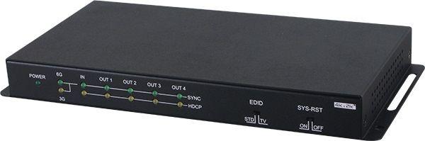 【新品/取寄品/代引不可】HDR、HDCP2.2と4K2K@60P(YUV444)に対応1入力4出力HDMI分配器 UHD-14V4K18G