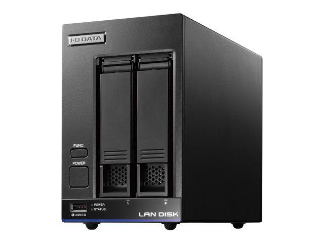 【新品/取寄品/代引不可】高性能CPU&NAS用HDD「WD Red」搭載 2ドライブスタンダードビジネスNAS 2TB HDL2-X2