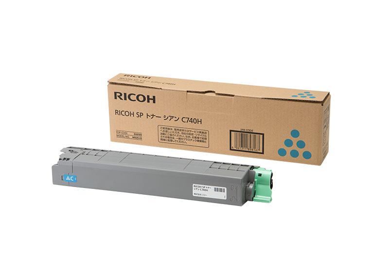 【新品/取寄品/代引不可】RICOH SP トナー シアン C740H 600585