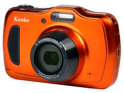 【新品/在庫あり】Kenko デジタルカメラ DSC200WP 防塵・防水 IP58 2016万画素 光学4倍ズーム 1m耐衝撃 オレンジ