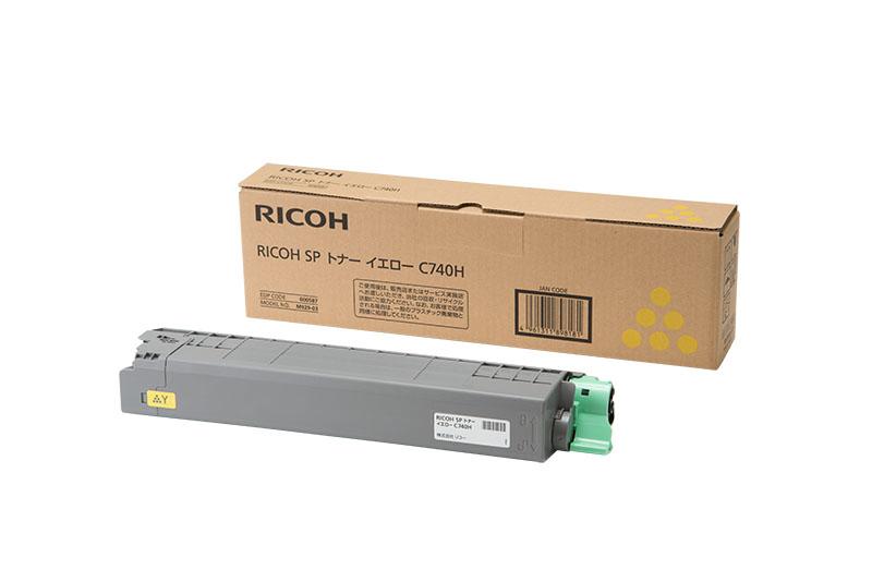 【新品/取寄品/代引不可】RICOH SP トナー イエロー C740H 600587